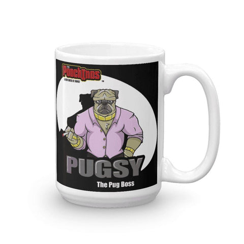 "Image of Pugsy ""The Pug Boss"" Spotlight Mug Mugs Printful 15oz"