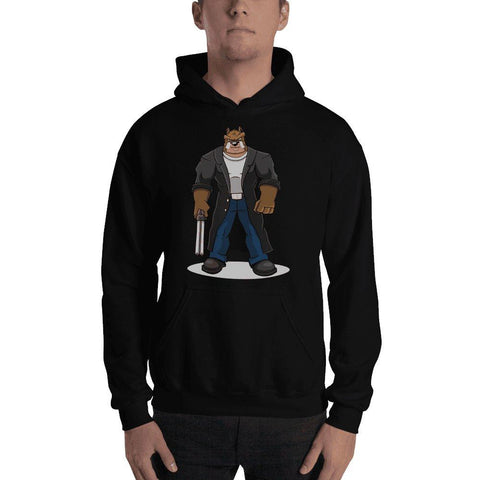 "Image of Boris ""The Butcher"" Hooded Sweatshirt Hoodies Printful Black S"