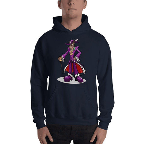 Pimp Dog Hooded Sweatshirt Hoodies Printful Navy S