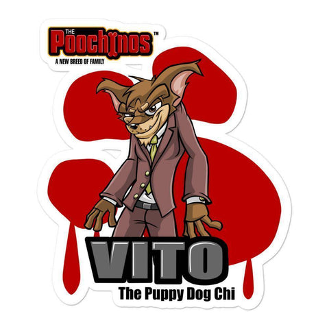 "Vito ""The Puppy Dog"" Muttenghetti Sticker - Dog Mafia Gear"