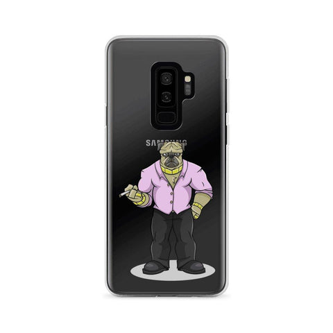 "Image of Pugsy ""The Pug Boss"" Samsung Case Phone Cases Printful Samsung Galaxy S9+"