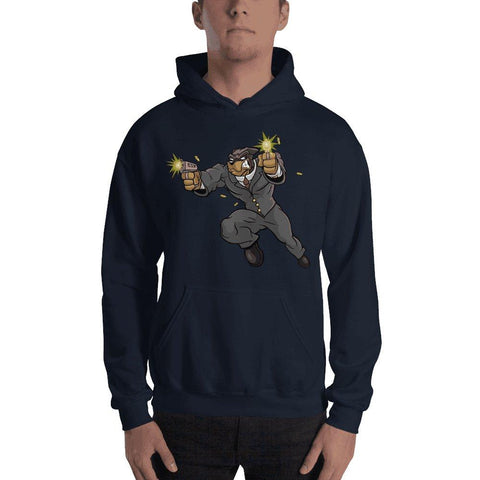 "Tony ""The Rott"" Jumping Guns Hooded Sweatshirt Hoodies Printful Navy S"