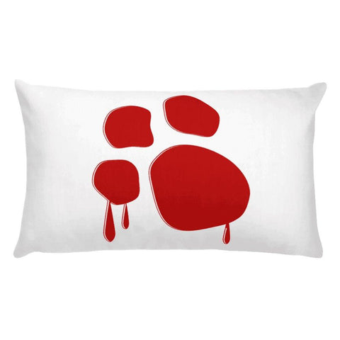 Dog Mafia Inc Bloody Paw Basic Pillow Pillows Printful