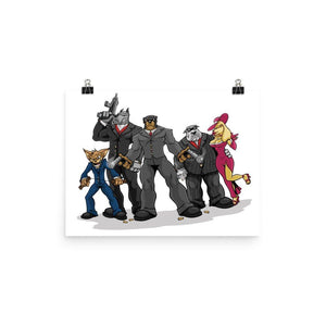 Poochinos Family Poster Posters Printful 12×16