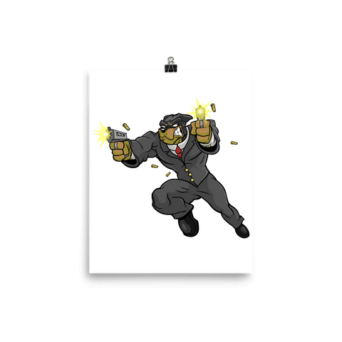 "Tony ""The Rott"" Jumping Guns Poster - Dog Mafia Gear"
