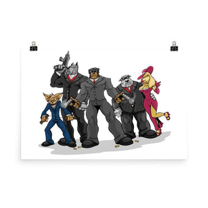 Poochinos Family Poster Posters Printful 24×36