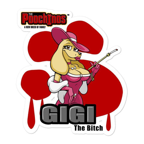 Image of GiGi Goldalinie Bloody Paw Sticker Stickers Printful 5.5x5.5