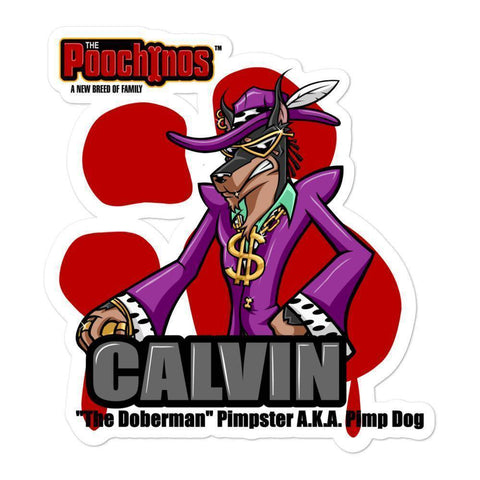 Image of Pimp Dog Bloody Paw Sticker Stickers Printful 5.5x5.5