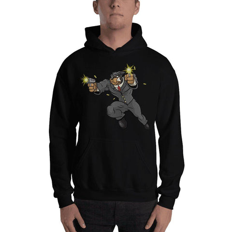 "Image of Tony ""The Rott"" Jumping Guns Hooded Sweatshirt Hoodies Printful Black S"