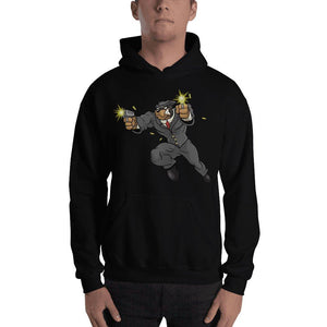 "Tony ""The Rott"" Jumping Guns Hooded Sweatshirt Hoodies Printful Black S"