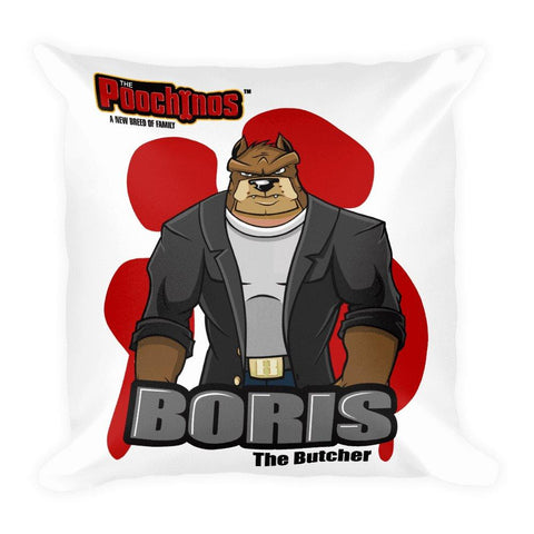 "Image of Boris ""The Butcher"" Bloody Paw Basic Pillow Pillows Printful Default Title"