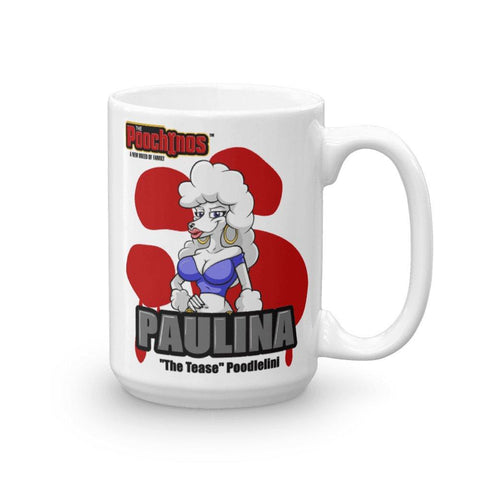 "Image of Paulina ""The Tease"" Bloody Paw Mug Mugs Printful 15oz"