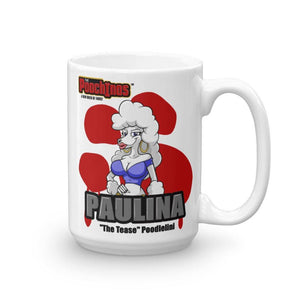 "Paulina ""The Tease"" Bloody Paw Mug Mugs Printful 15oz"