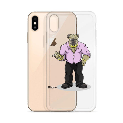 "Image of Pugsy ""The Pug Boss"" iPhone Case Phone Cases Printful"
