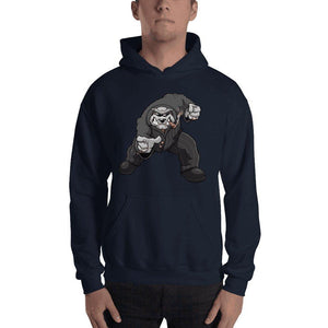 "Bully ""The Boss"" Pointing Hooded Sweatshirt 2 Print Hoodies Printful Navy S"