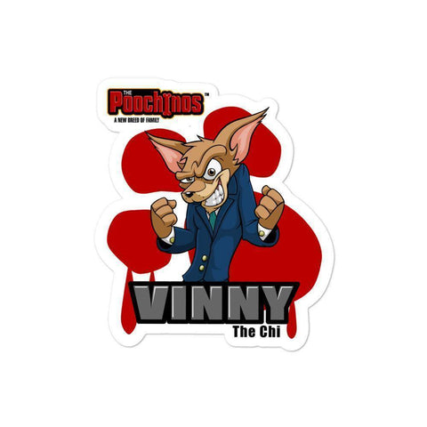 "Image of Vinny ""The Chi"" Bloody Paw Sticker Stickers Printful 4x4"