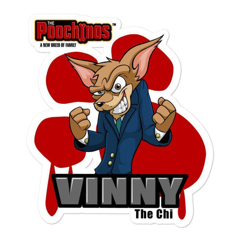 "Image of Vinny ""The Chi"" Bloody Paw Sticker Stickers Printful 5.5x5.5"