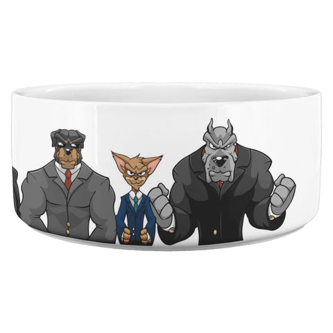 Dog Mafia Inc Dog Bowl White Dog Bowls teelaunch