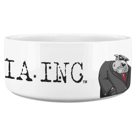 Image of Dog Mafia Inc Dog Bowl White Dog Bowls teelaunch