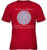 """The Ways to Happiness"" Kids Apparel"