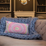 Pink Paisley Throw Pillow
