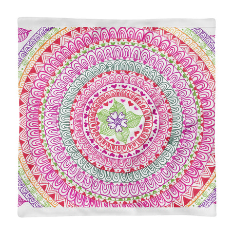 Pink Paisley Pillow Case