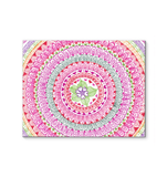 Colorful Zentangle Flower Design in Pink & Green Hues
