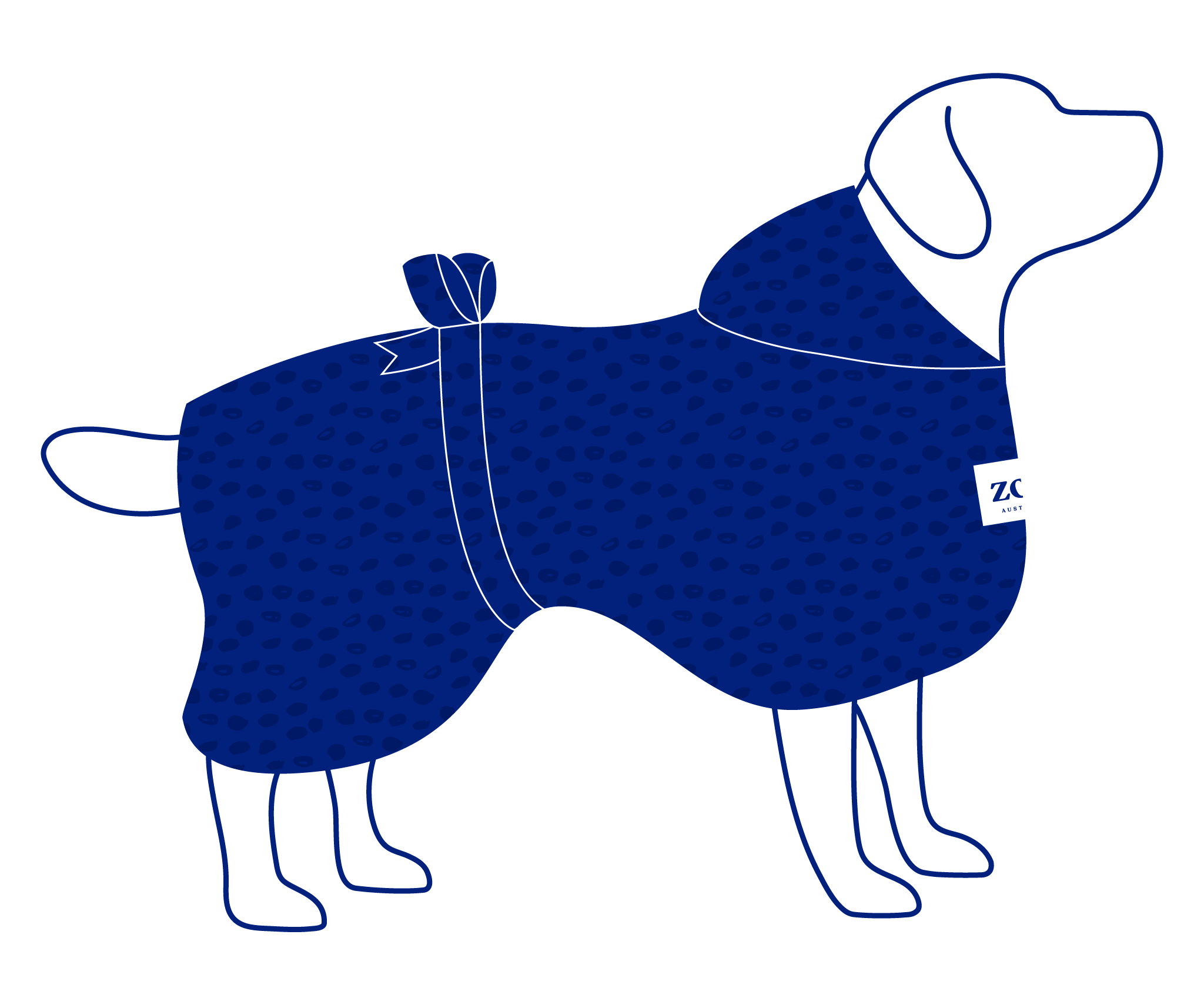 Zoh Robe Dots Dog Vector