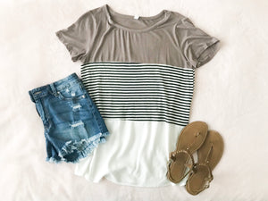 Coffee Date Striped Tee