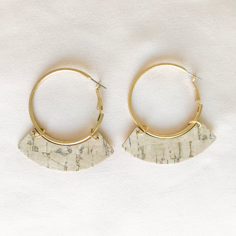 Cork Hoop Earrings