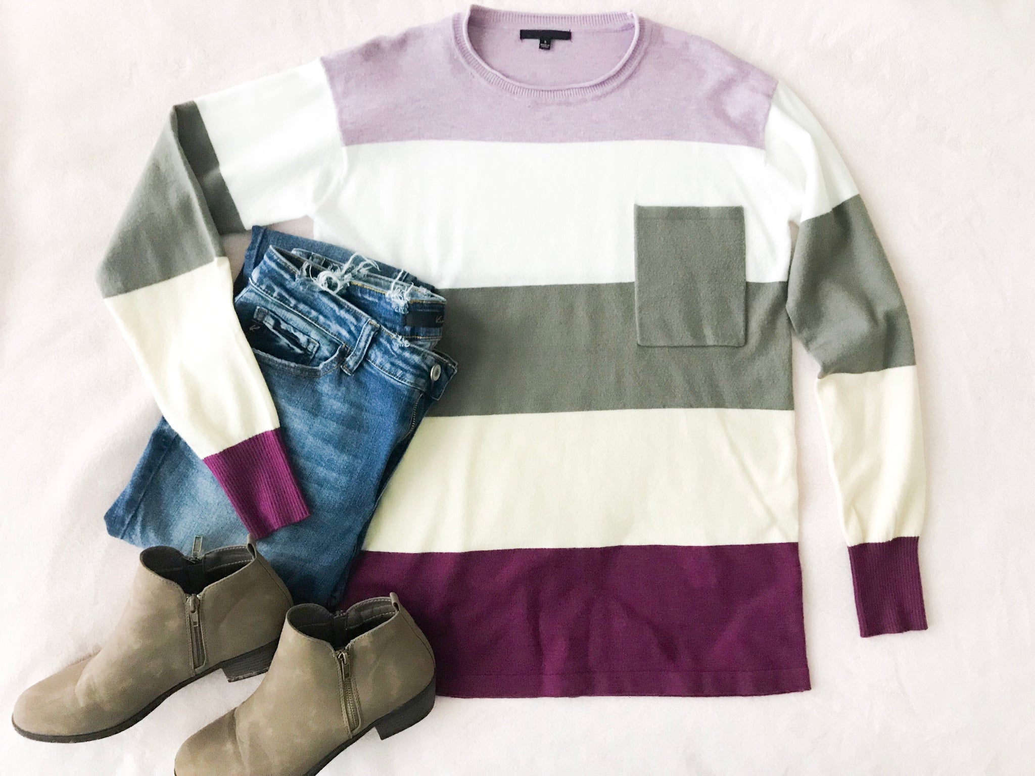 Sweet & Soft Color Block Sweater