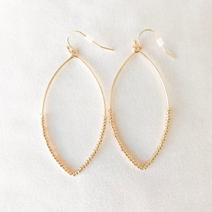 Oval Hoop Dangle Earrings