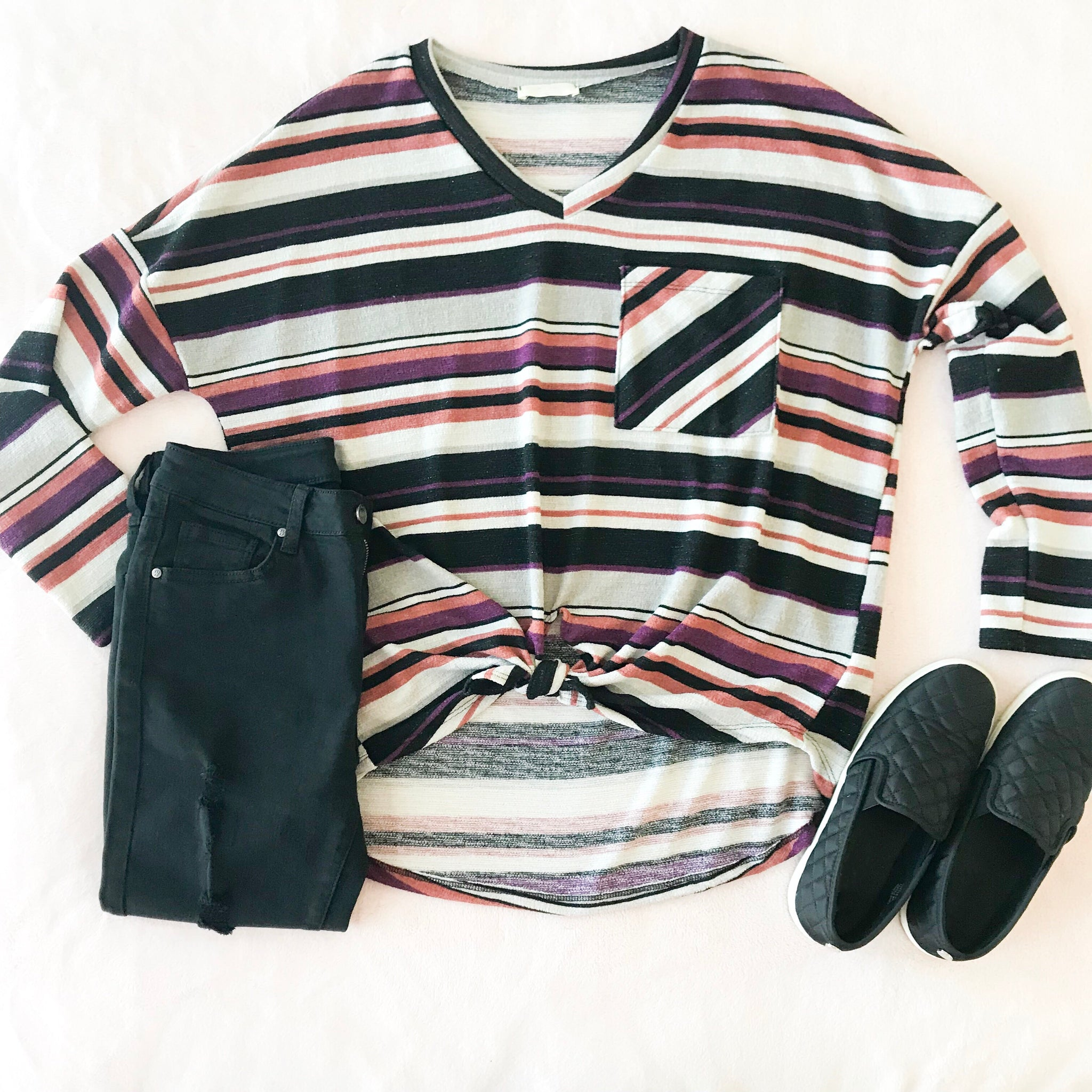Metallic Striped Top