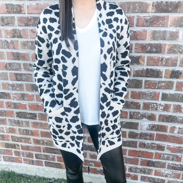 Leopard Sweater Cardigan