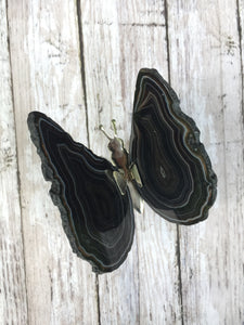 Agate Slice Butterfly