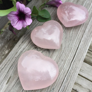 Rose Quartz Large Puffed Heart