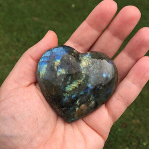 Labradorite Puffed Heart shape