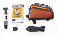 Super Hero Kit for Mountain Biking: w/ pump, tube & bag