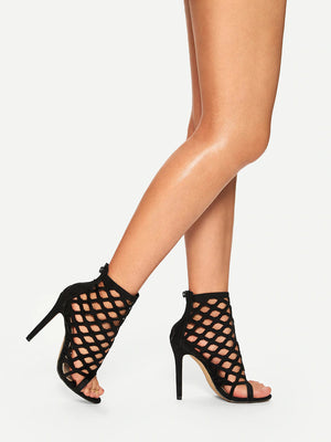 Cut-Out Stiletto Heels