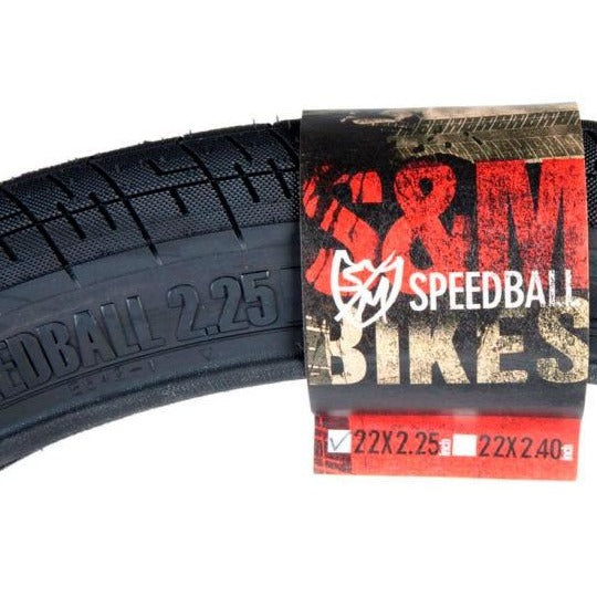 S&M Speedball Tyre 22 X 2.25 Black