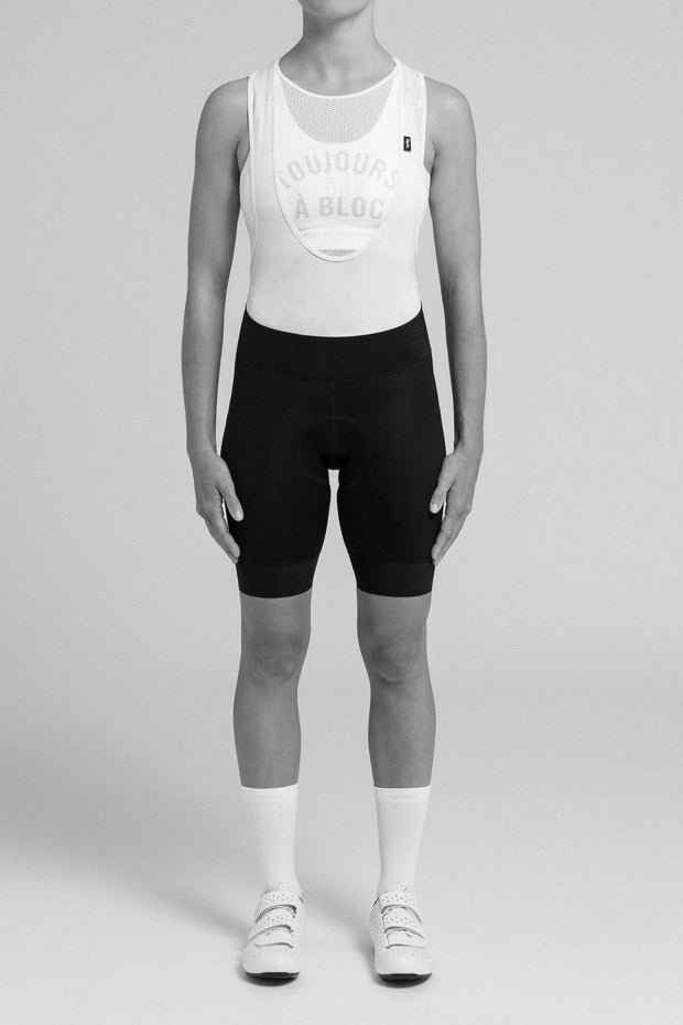 Women's Souplesse Bib Shorts II Regular - Black/White