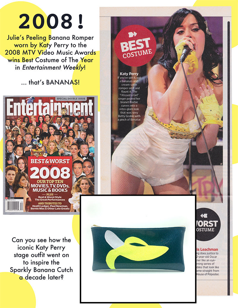 Katy perry Wearing Julie Mollo banana romper in Entertainment Weekly