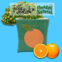 Glitter Florida's Natural Orange Clutch by Julie Mollo