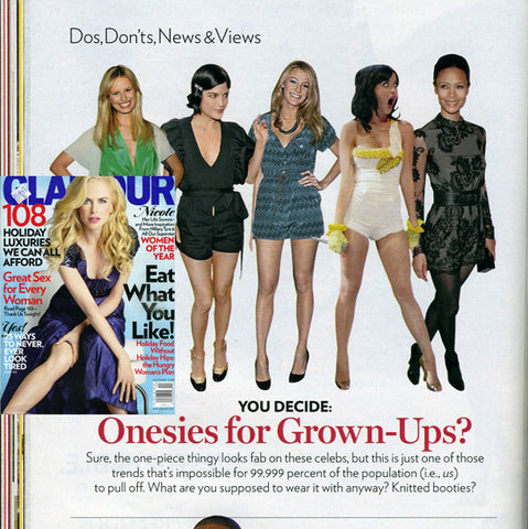 Katy Perry banana romper featured in Glamour magazine by Julie Mollo