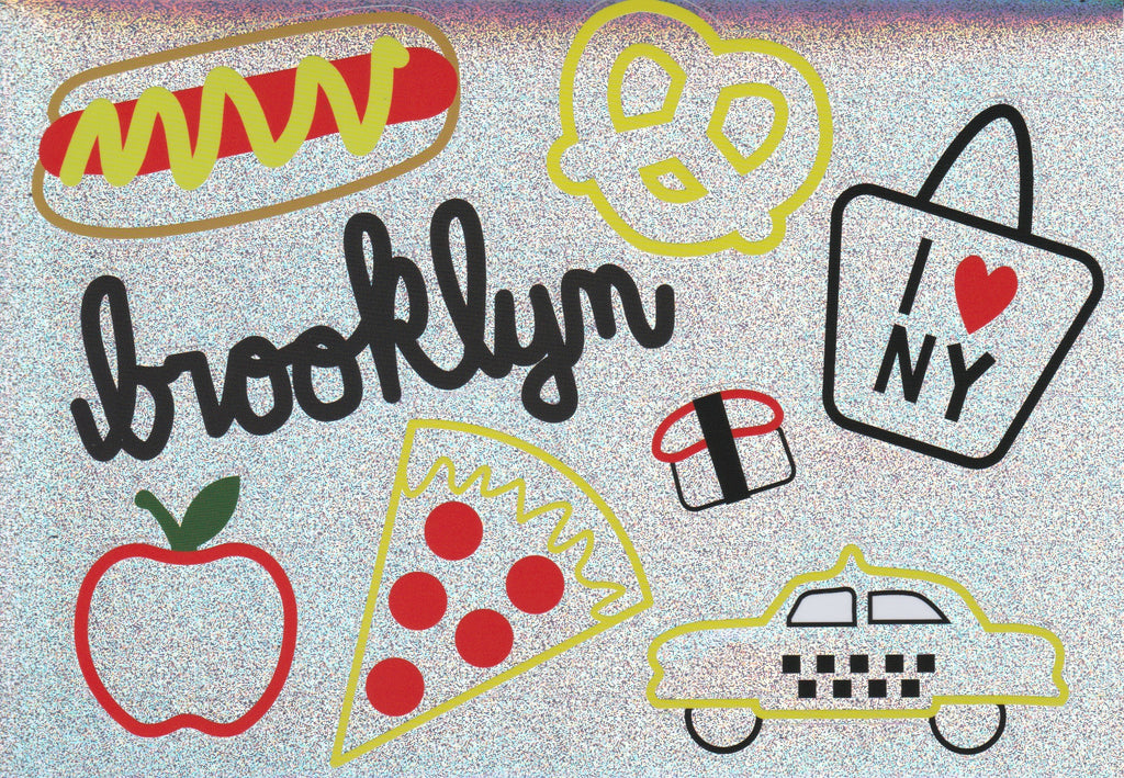 Holographic Glitter NYC Sticker Sheet!