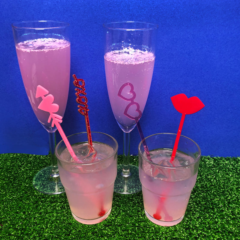 Lovely Love Themed Drink Stirrers!