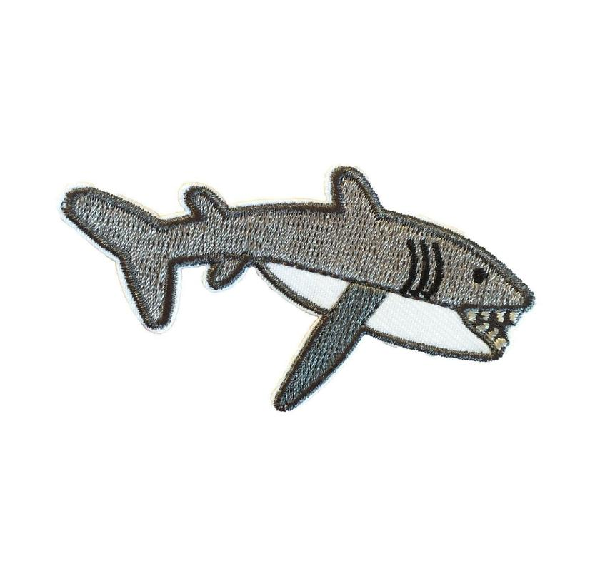 Grey Shark Iron-On Patch!-Accessories-Julie Mollo!