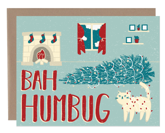 bah humbug | greeting card