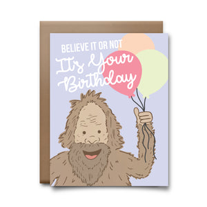 believe it or not | greeting card