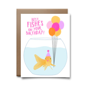 birthday fishes | greeting card
